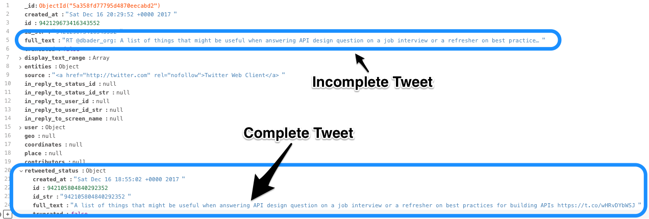 Tweepy documentation search